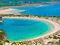 Voidokilia Beach, Peloponéz, Grécko
