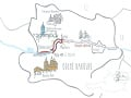 Cyklistická mapa Rakúska