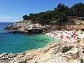 Pláž na Istrii
