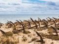 Pláž Barril, Algarve, Portugalsko