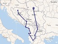 Autotrip naprieč Balkánom
