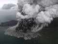 Indonézska sopka Anak Krakatau