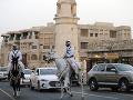 Katarská polícia na trhu