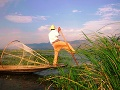 Rybár na jazere Inle