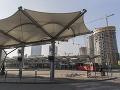 Dočasná autobusová stanica v