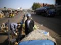 Nigérijský predavač na ulici