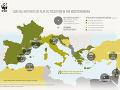 Najznečistenejšie časti Stredozemného pobrežia