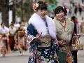 Mladé japonské dievčatá v