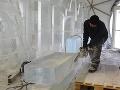 Stavba ľadového dómu na