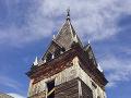 Veža viktoriánskeho dreveného kostola,