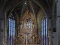 Zrekonštruovaný gotický hlavný oltár