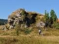 Pohľad na skalu a