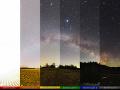 Reálna panoráma svetelného znečistenia,
