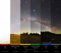 Reálna panoráma svetelného znečistenia.