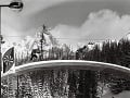 Záber z tréningu lyžiarov