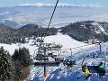 Na snímke lyžovačka v