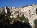 Steny kaňonu v Kappadokii