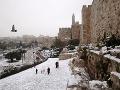 Zasnežený Jeruzalem