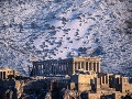 Zasnežené Atény