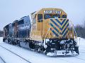 Železnica v arktickom ľade