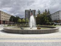 Pohľad na fontánu a