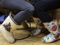 Tradičné ruské zimné topánky