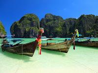 Thajská pláž Krabi na