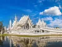 Biely chrám v Thajsku