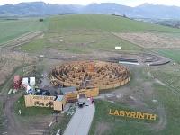 Najväčší drevený kruhový labyrint