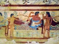 Freska v Hrobke levíc,