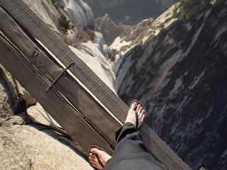 Cestu horou vybudovali mnísi,