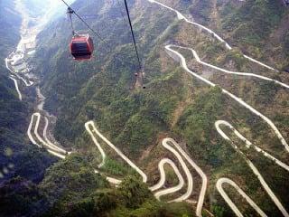 Čínske pohorie Tianmen: Výstavná