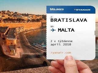 Novinky Ryanairu: Z Bratislavy