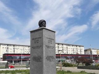 Gagarinova socha v Belehrade