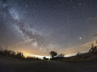 Na snímke Mliečna cesta