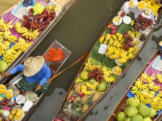 Plávajúci trh v Bangkoku,