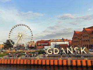 Nápis Gdansk s vyhliadkovým