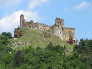 Múry zrúcaniny hradu Čičva