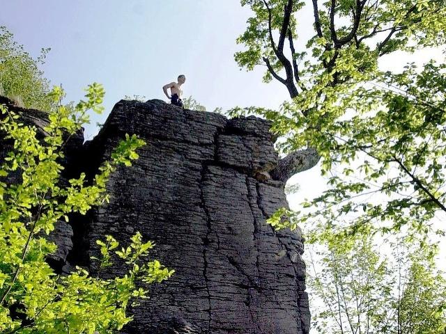 Kalamárka- typická andezitová skalná