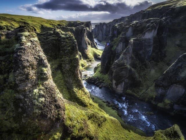 Kaňon Fjaðrárgljúfur, Island