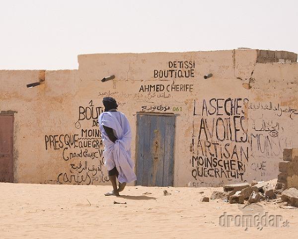 Chinguetti miestny obchod, Mauritánia