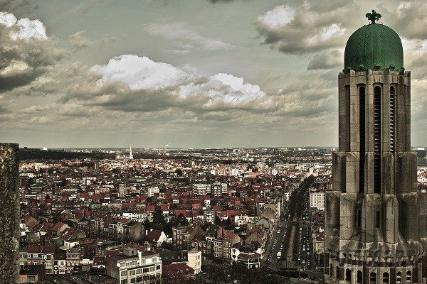 Koekelberg's Basilica a pohľad