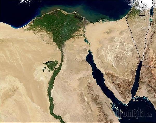 rieka Níl z družice