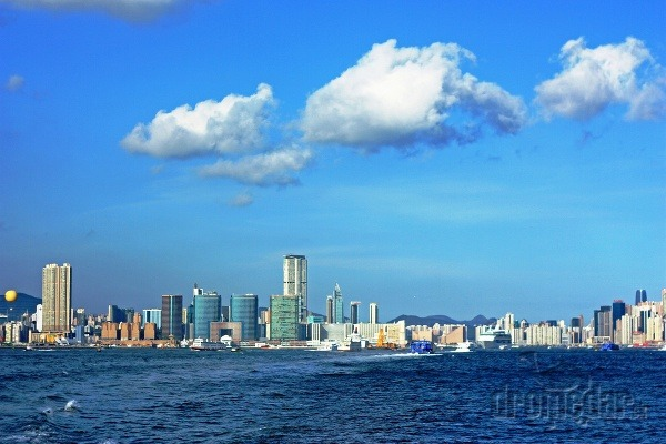 Hongkong, pohľad z lode