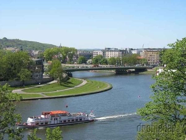 Rieka Visla, Krakov, Poľsko