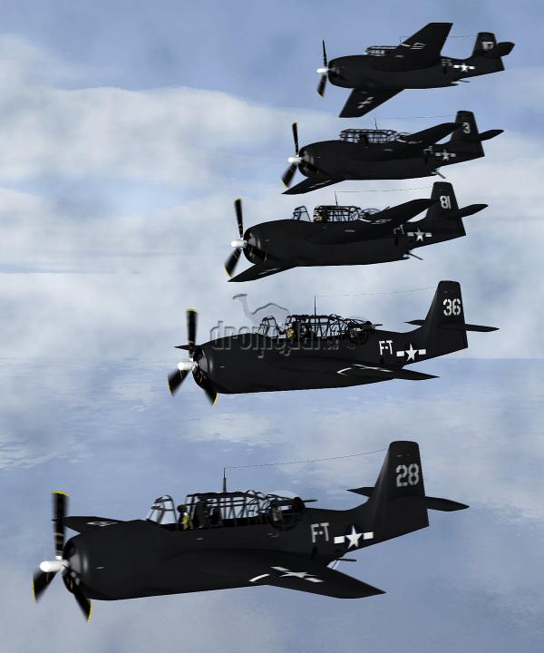 Lietadlá Avengers, typ lietadiel