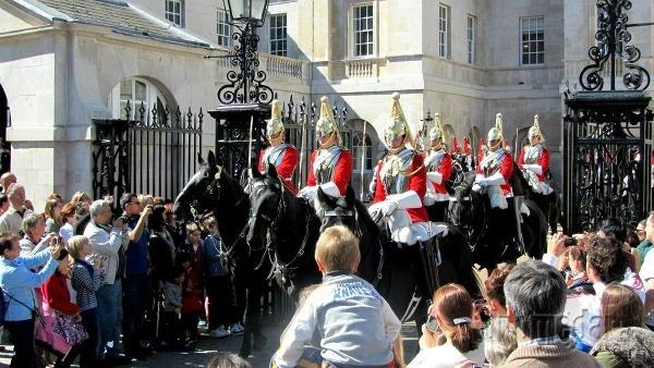 Výmena stráží, Buckinghamský palác,
