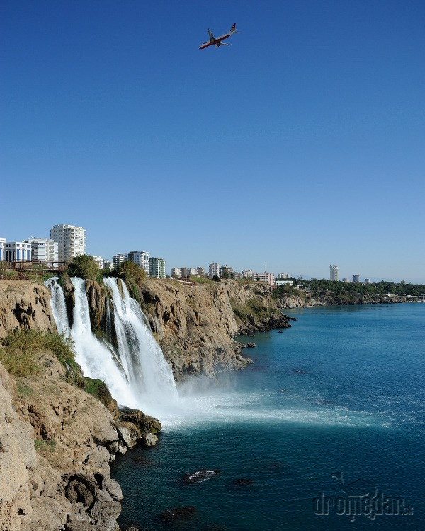 Dolné vodopády Düden, Antalya,
