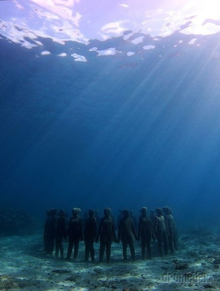 podmorské múzeum v Karibiku