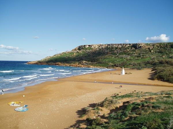 Pláž Ramla, Malta